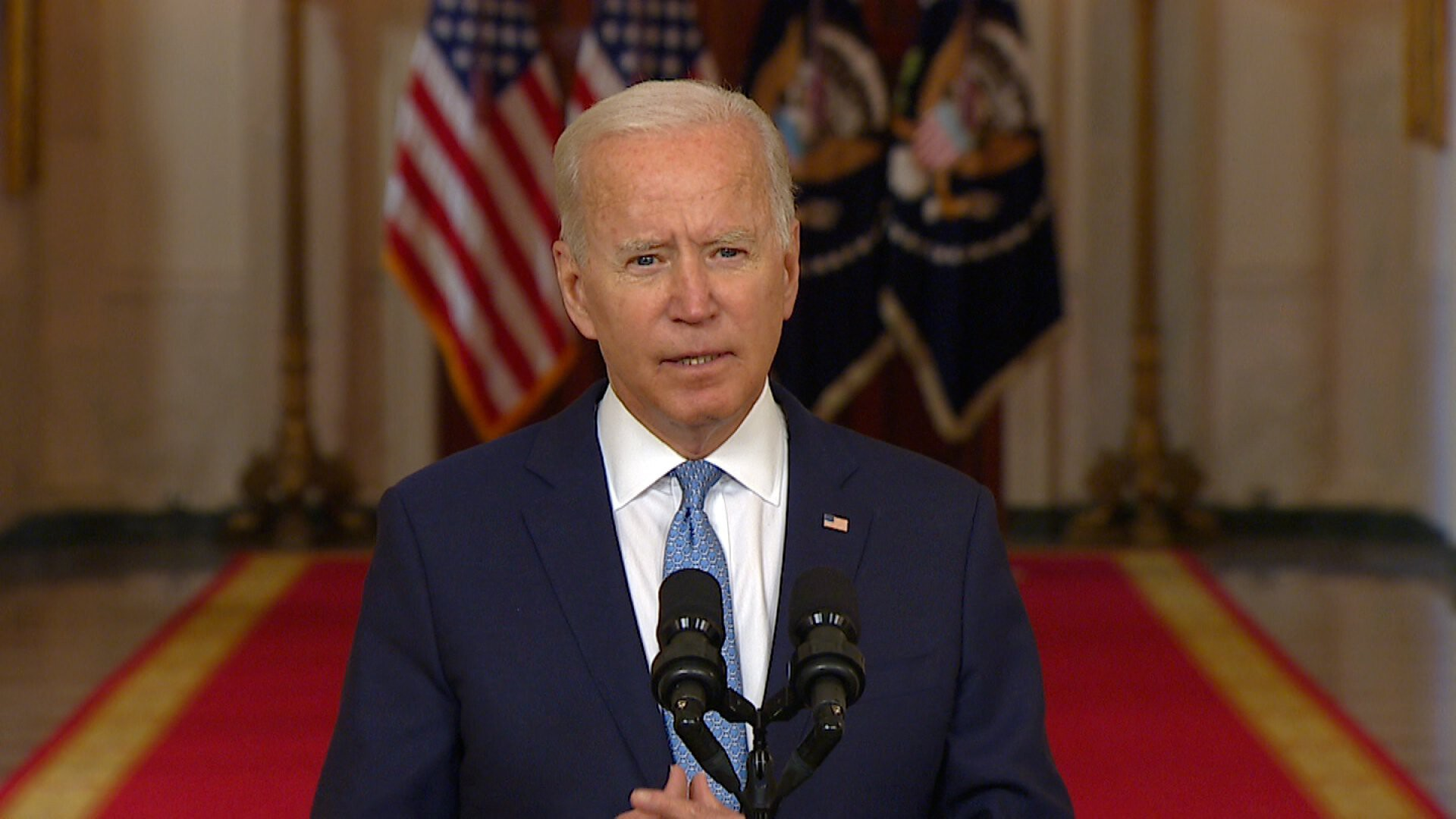 Biden gives a defiant defense of the withdrawal from Afghanistan: 'I was not extending a forever exit'