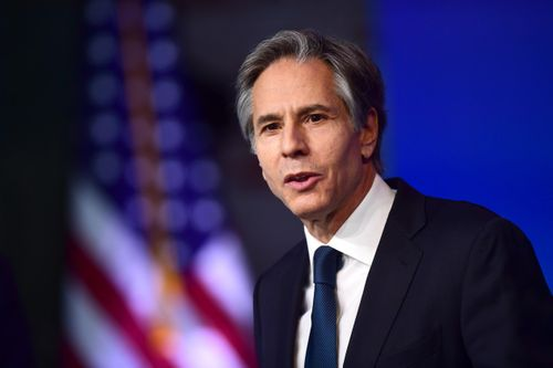 Image for Secretary of State Blinken visits Afghanistan day after US announces plans for withdrawal