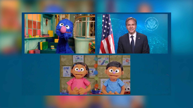 Blinken goes back to Sesame Street