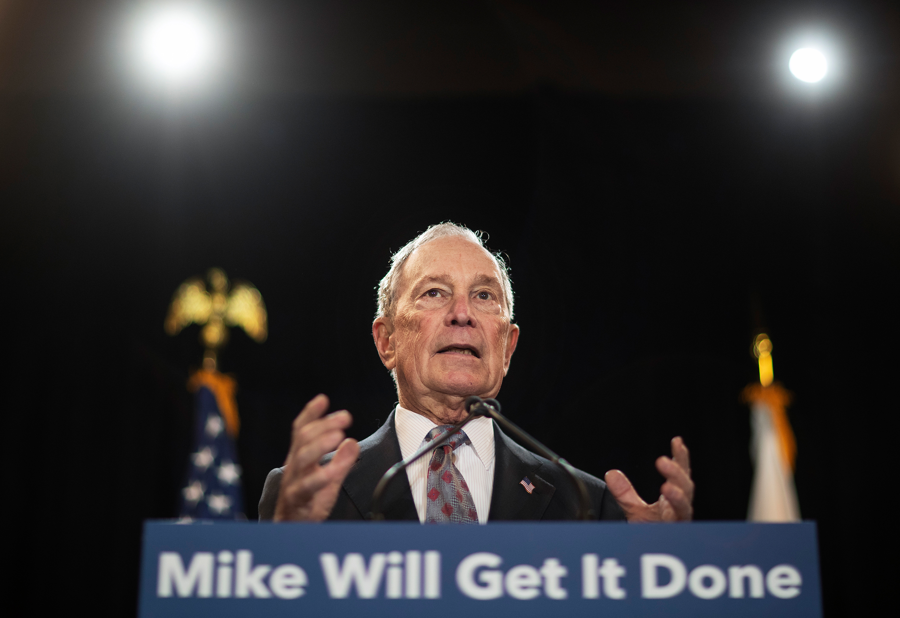 Democratic candidates zero in on Bloomberg as former mayor rises in the polls