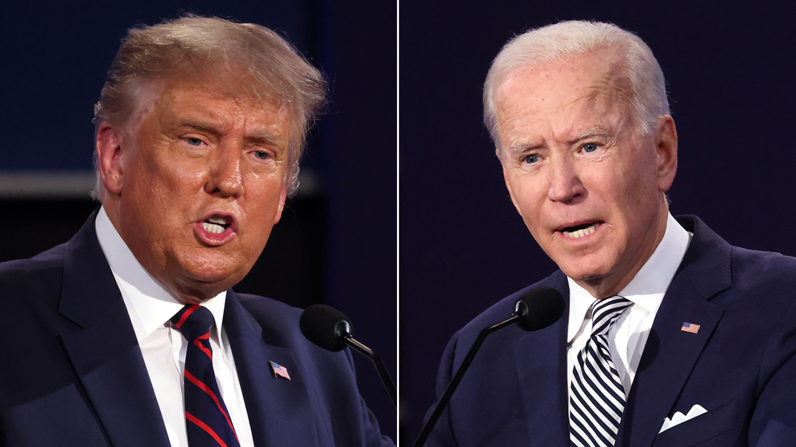 These are the big words associated with Trump and Biden as the 2020 campaign closes
