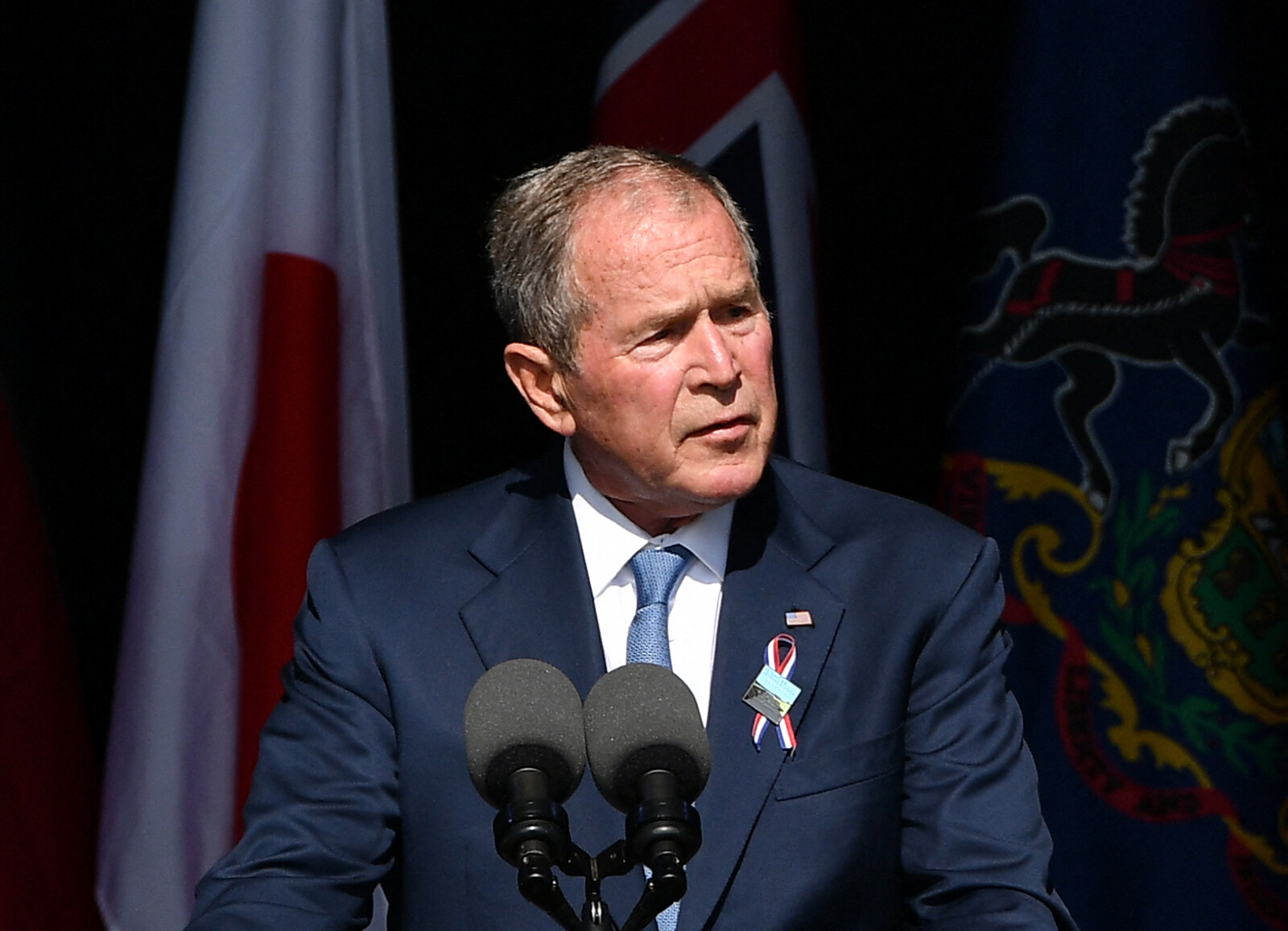 Bush alludes to US Capitol rioters when condemning violent extremists behind 9/11 attacks