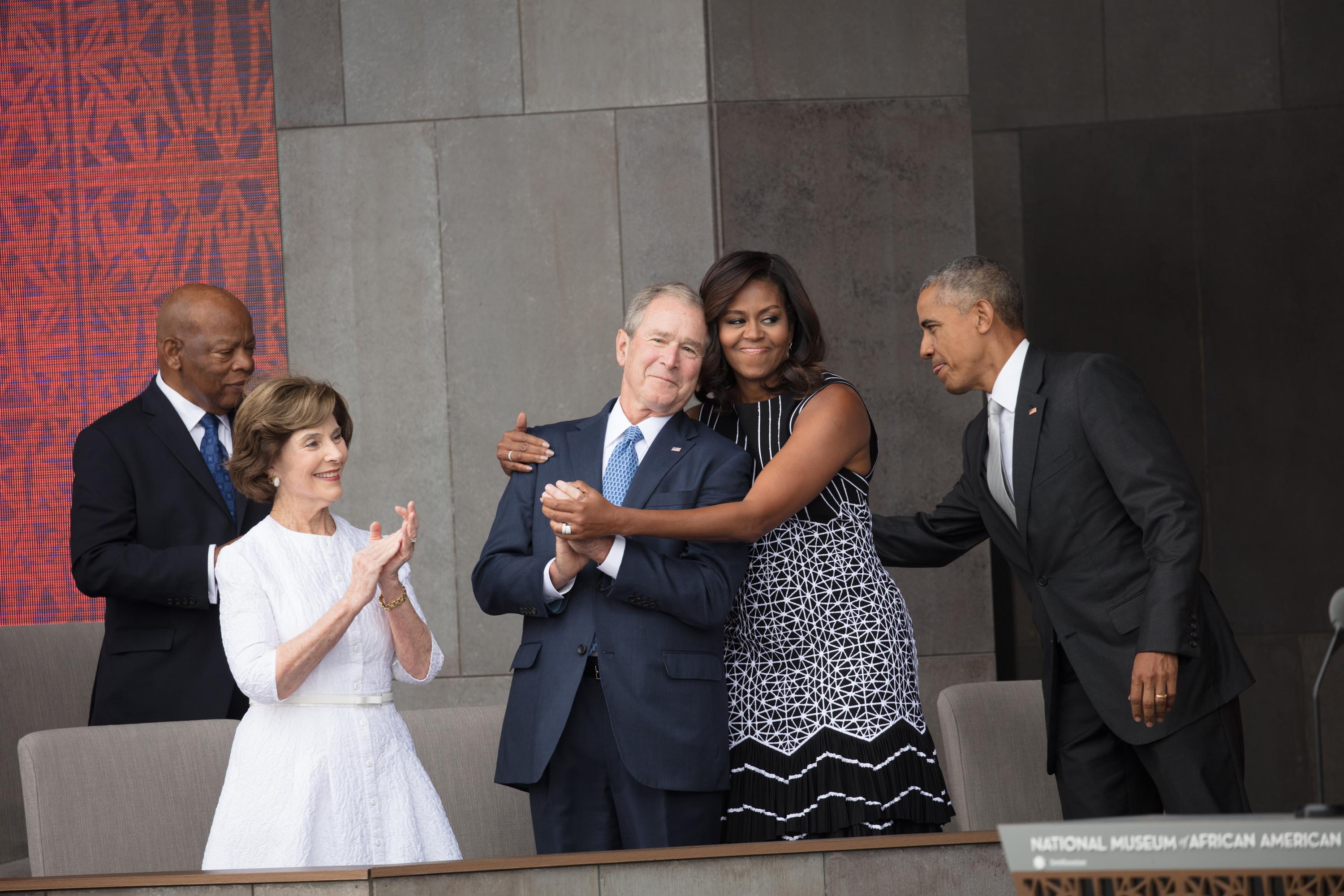 Bush says he was 'shocked' by people's reactions to his friendship with Michelle Obama