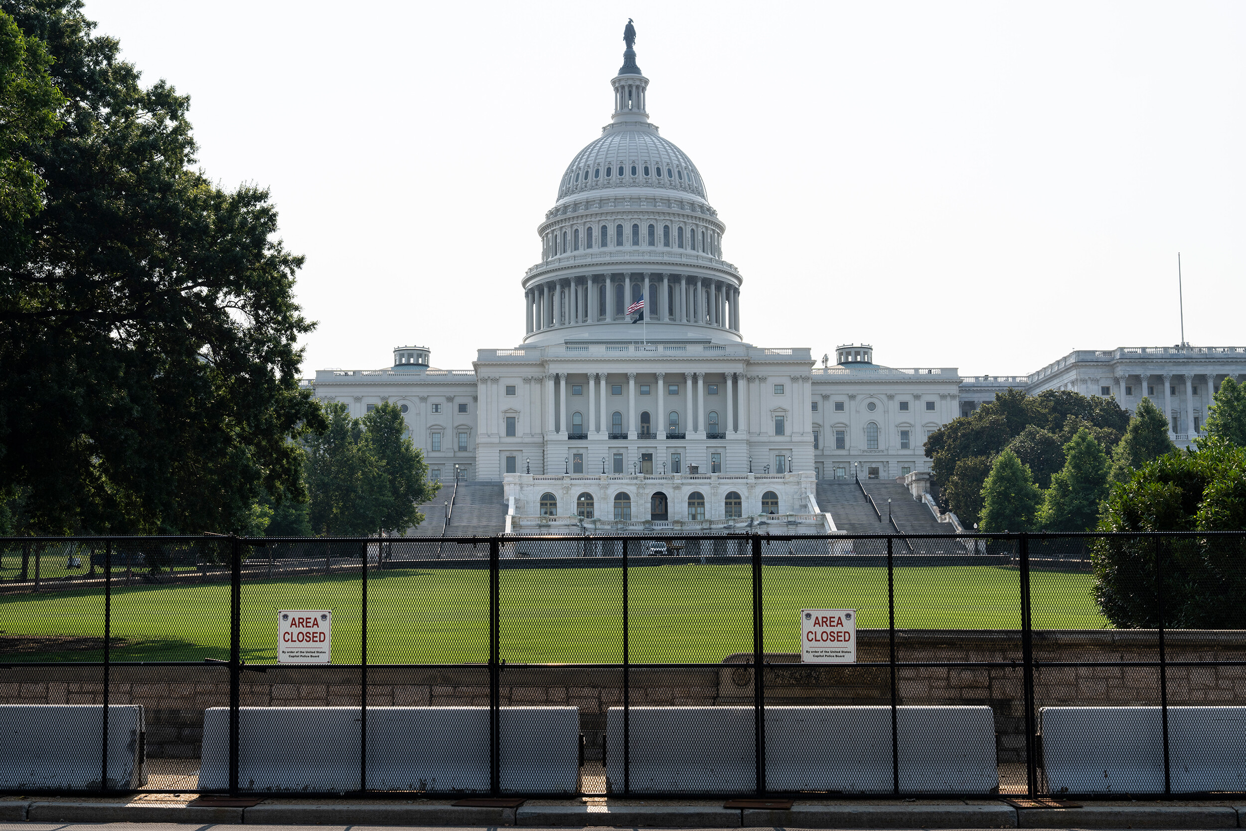 US Capitol Police says fencing around Capitol building set to be removed as early as Friday