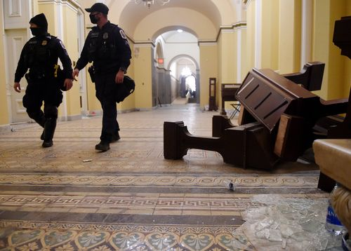 Image for Attorneys of alleged insurrectionists are given tours of US Capitol