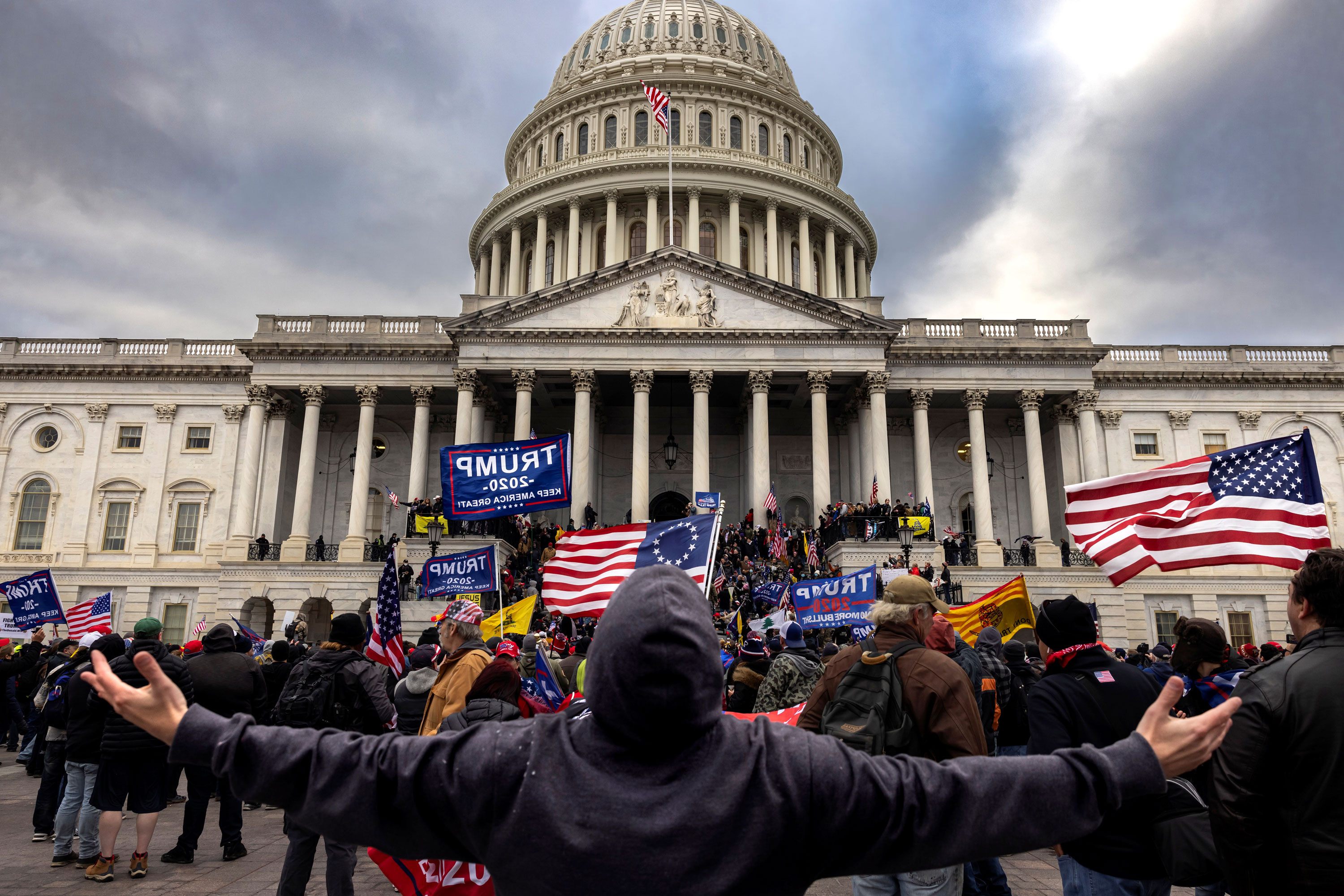 New videos show Capitol rioters attacking police line from officers' point of view