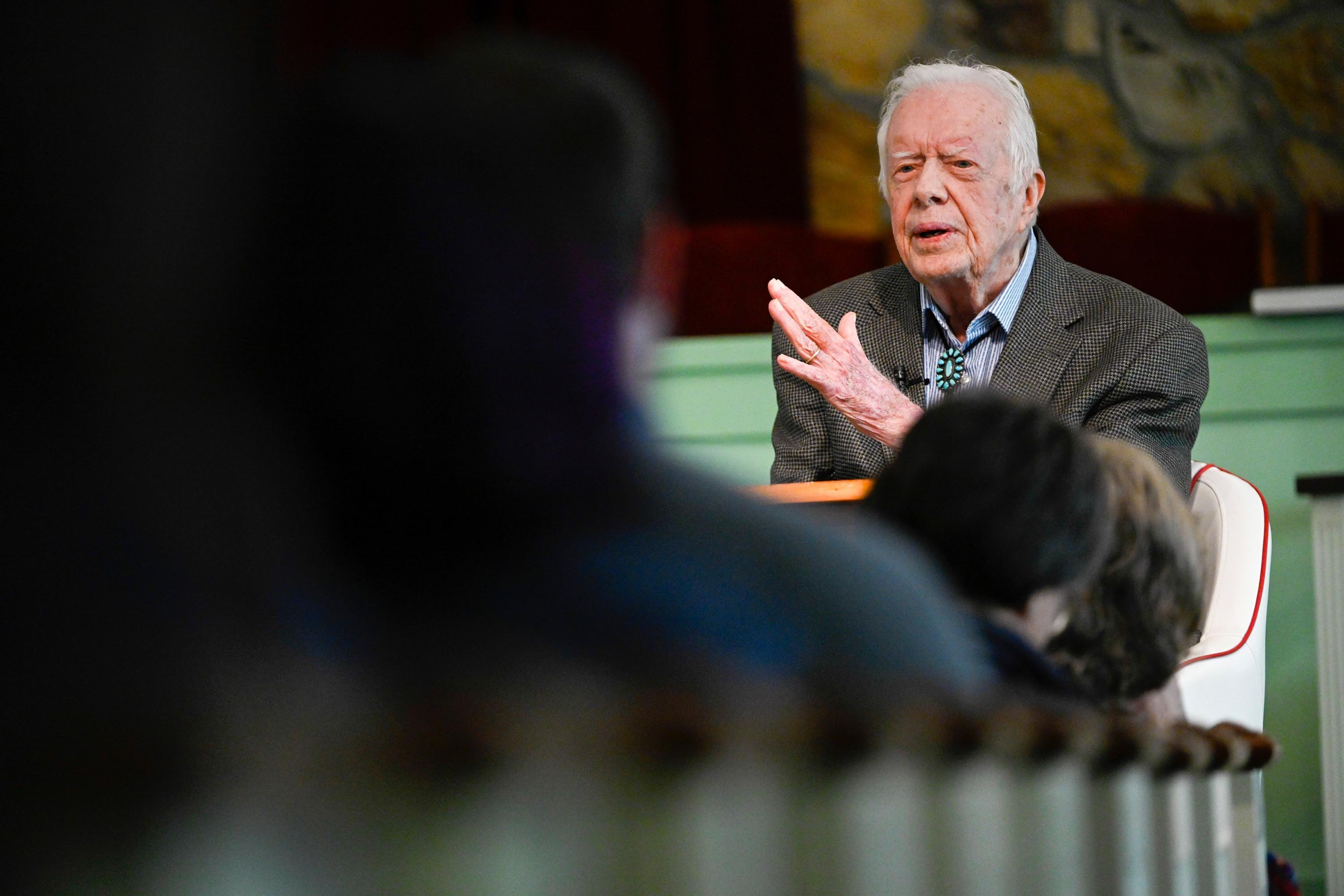 Jimmy Carter recovering in hospital after surgery to relieve pressure on his brain