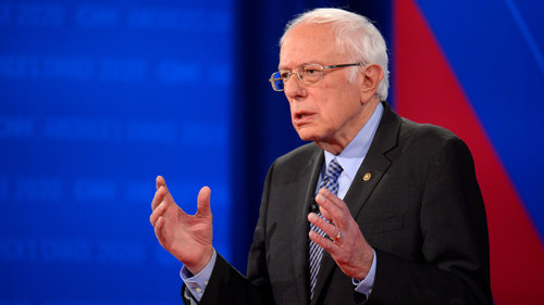 Image for Democratic candidates try to put Bernie Sanders in the hot seat in last debate before crucial primaries