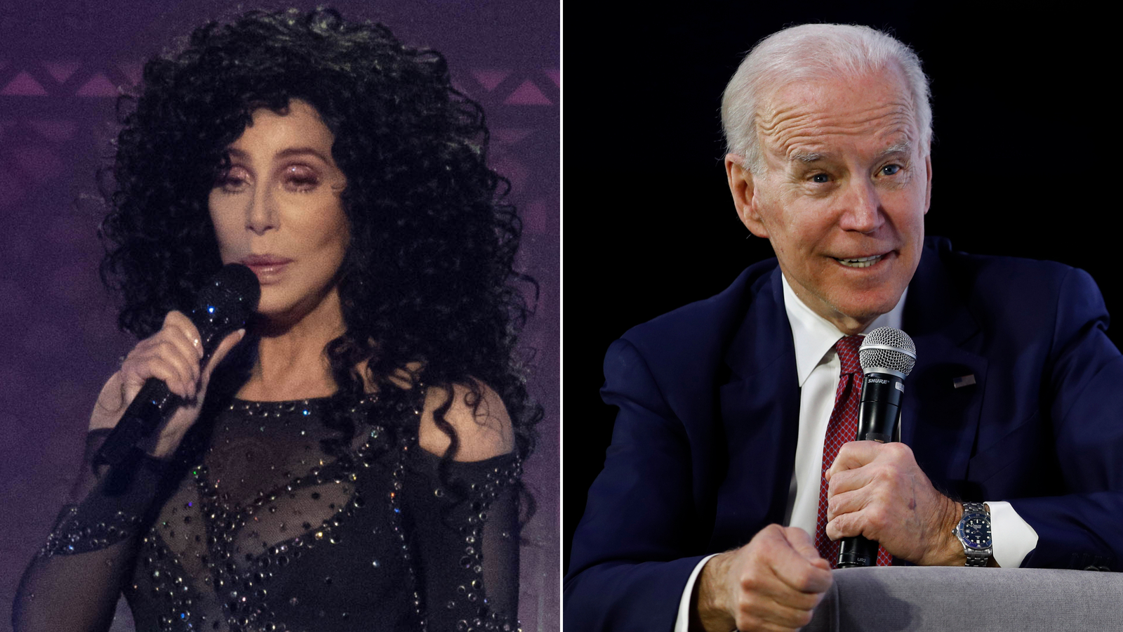 Cher says she still believes in Joe Biden