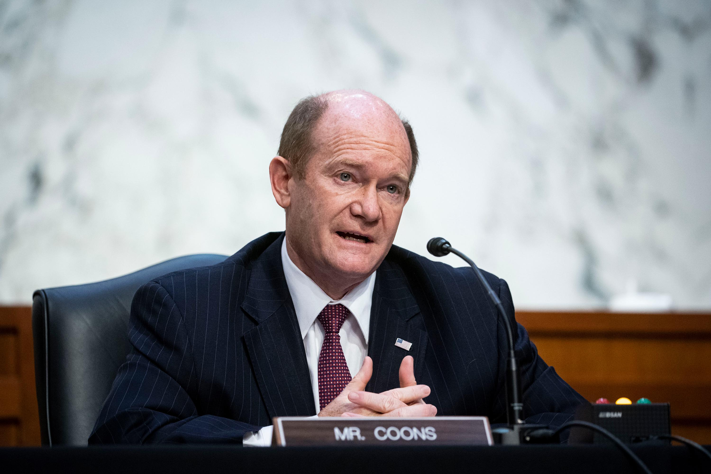 Coons breaks with Pelosi in supporting equal representation to investigate Capitol attack