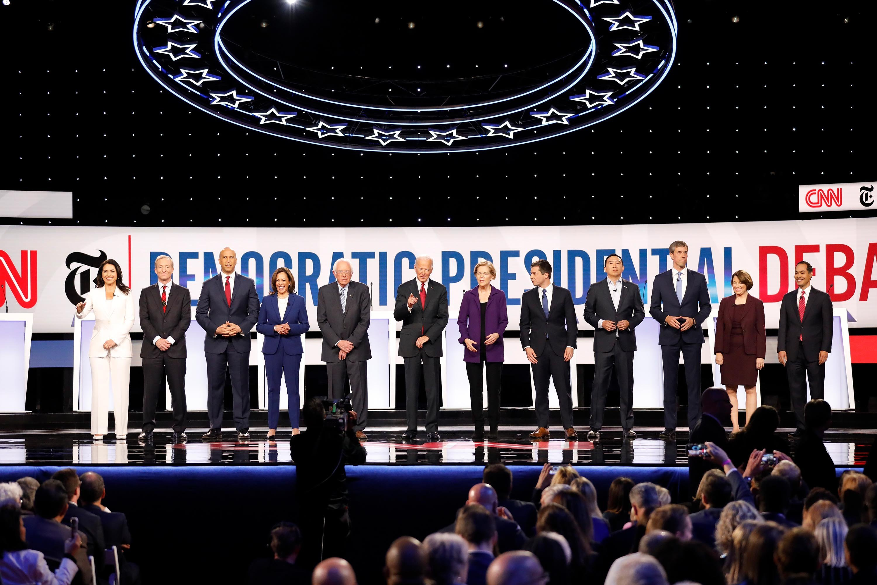 2020 Democrats stand united in support of impeachment process at debate