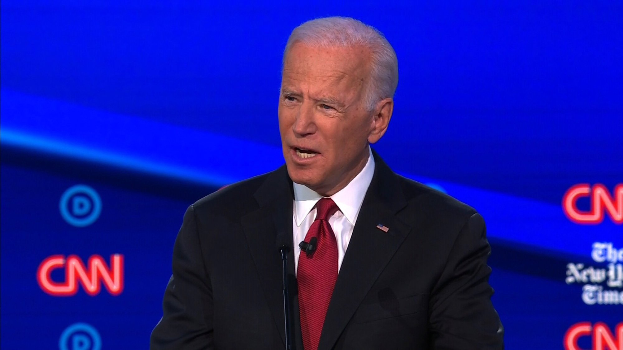 Joe Biden offers forceful defense of his son's Ukraine work at Democratic debate