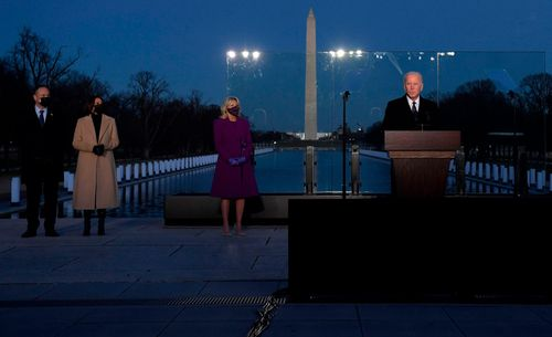 Image for Biden to mark upcoming 500,000 US Covid-19 deaths with candle lighting ceremony Monday