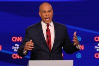 Booker reveals some of the 'constructive criticism' his girlfriend Rosario Dawson gave him after debate