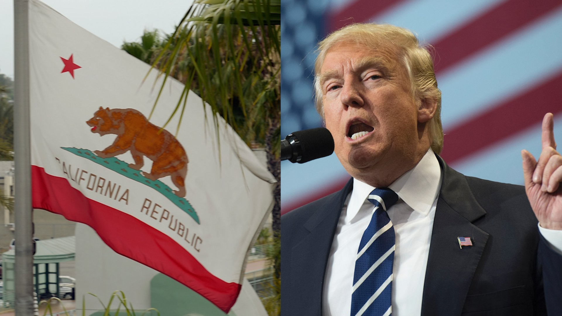 Trump's California trip marked by pair of clashes