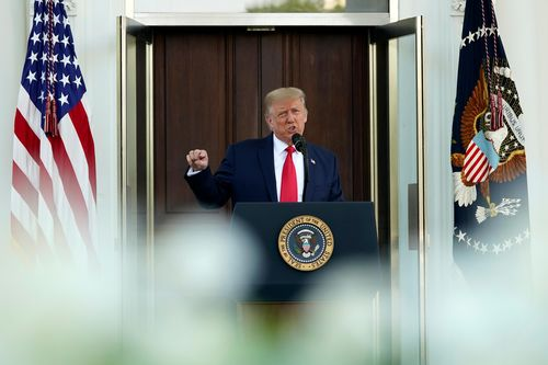 Image for At home on Labor Day, Trump wages rambling attack on Biden