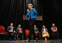 'I have made mistakes': Elizabeth Warren apologizes, turns to policy talk at tribal forum