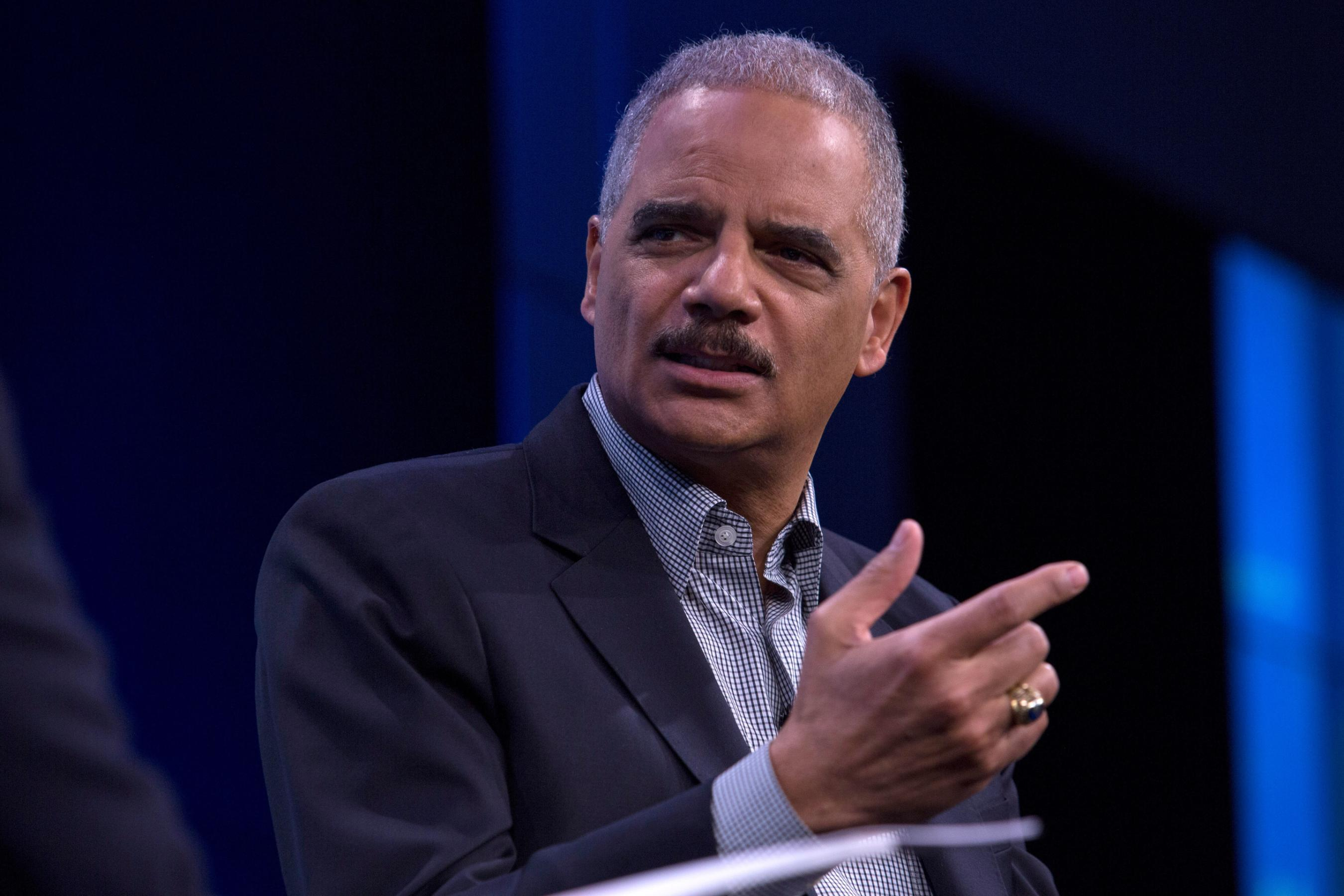Ex-Attorney General Eric Holder accuses Republicans of using courts to facilitate 'cheating'