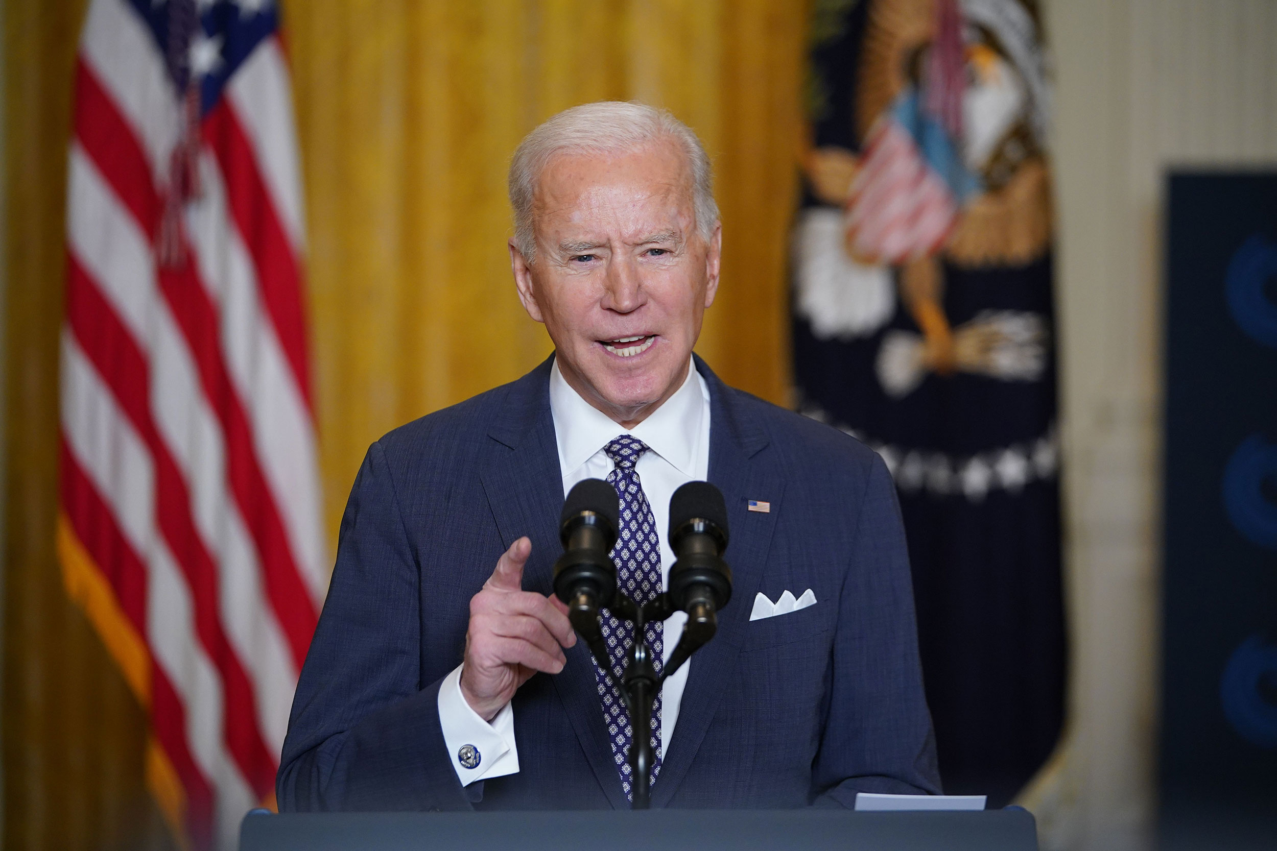 Fact check: Breaking down Joe Biden's first month of claims