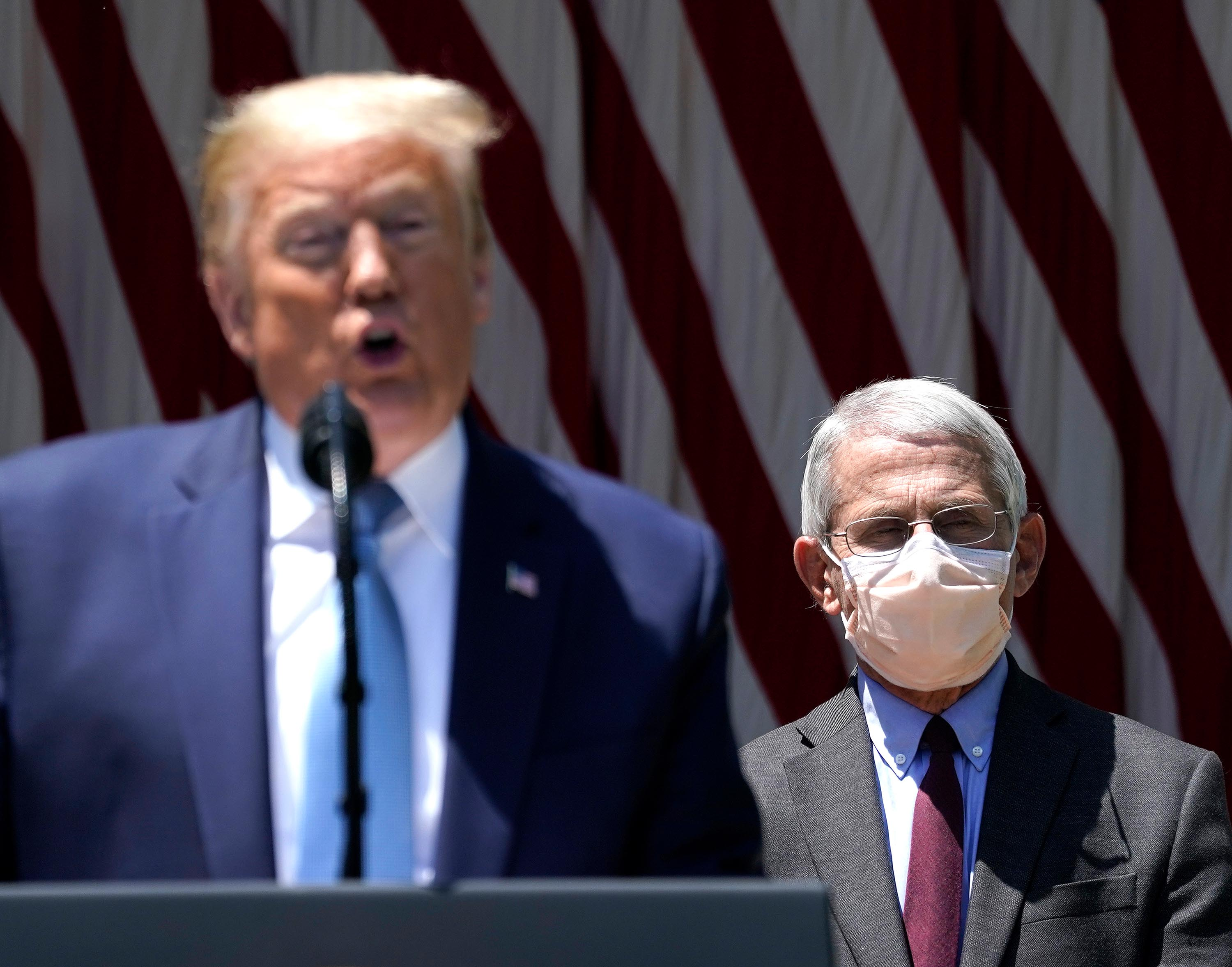 Fauci says he wears a mask to be a symbol of what 'you should be doing'
