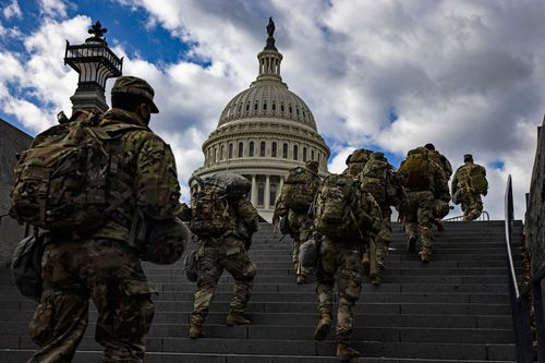 Image for FBI vetting National Guard members involved in securing US Capitol