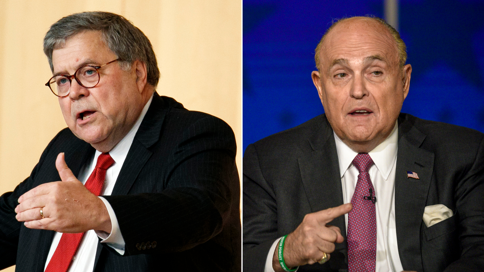 Barr dropped into Giuliani meeting at Justice Department in previously undisclosed encounter