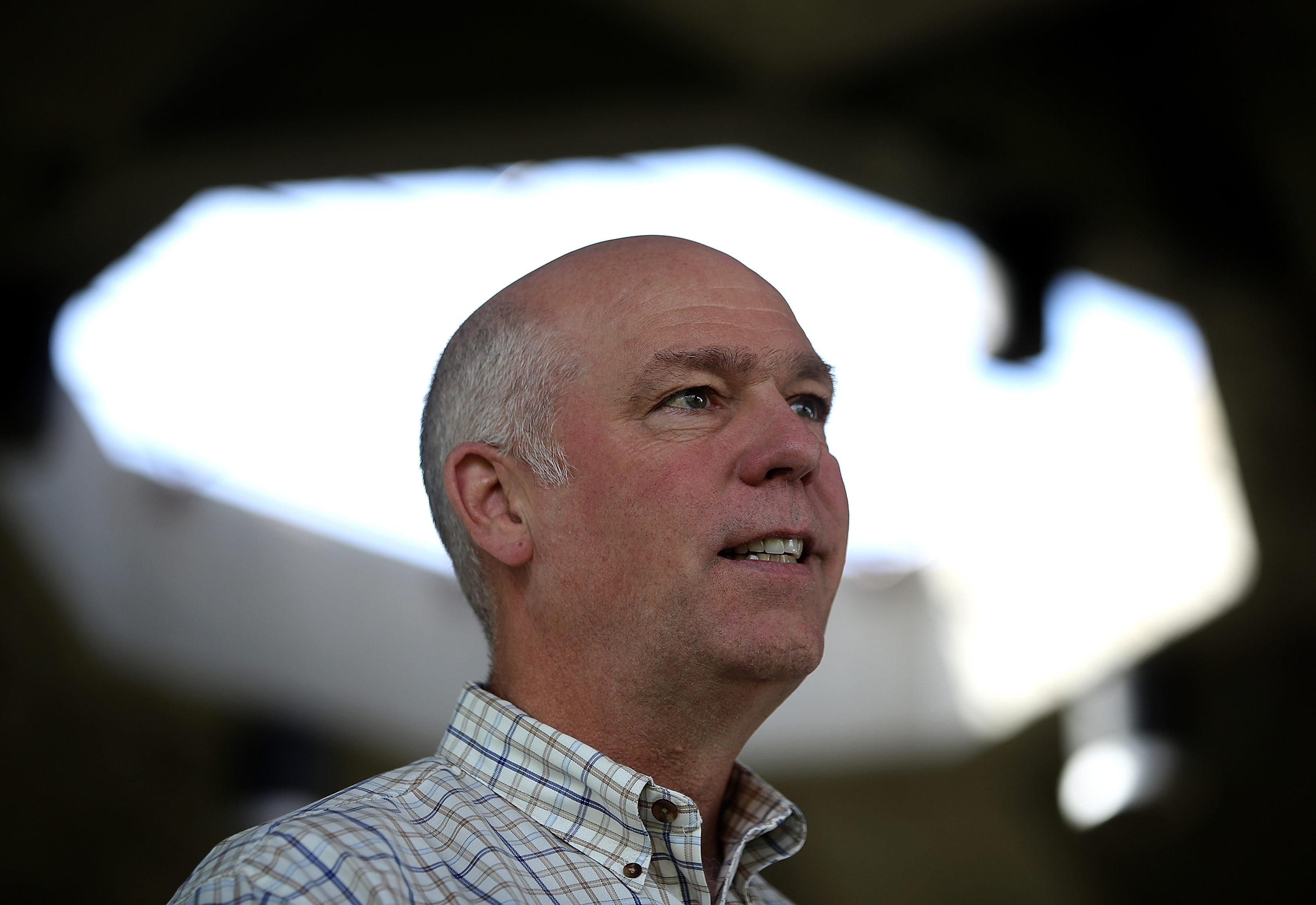 Montana's Greg Gianforte suspends in-person campaigning after wife, running mate attended event with Kimberly Guilfoyle