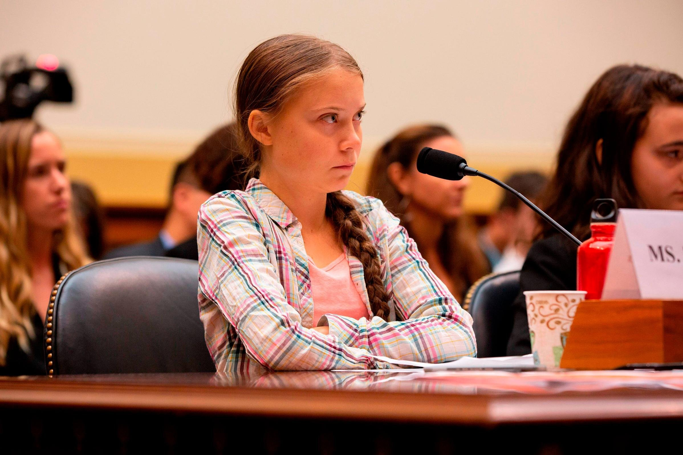 16-year-old climate activist Greta Thunberg tells Congress to listen to the scientists and take real action