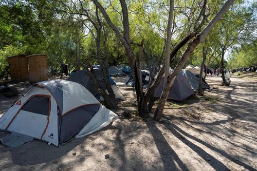 Image for Infamous tent camp on US-Mexico border drawn down after Biden ends Trump policy