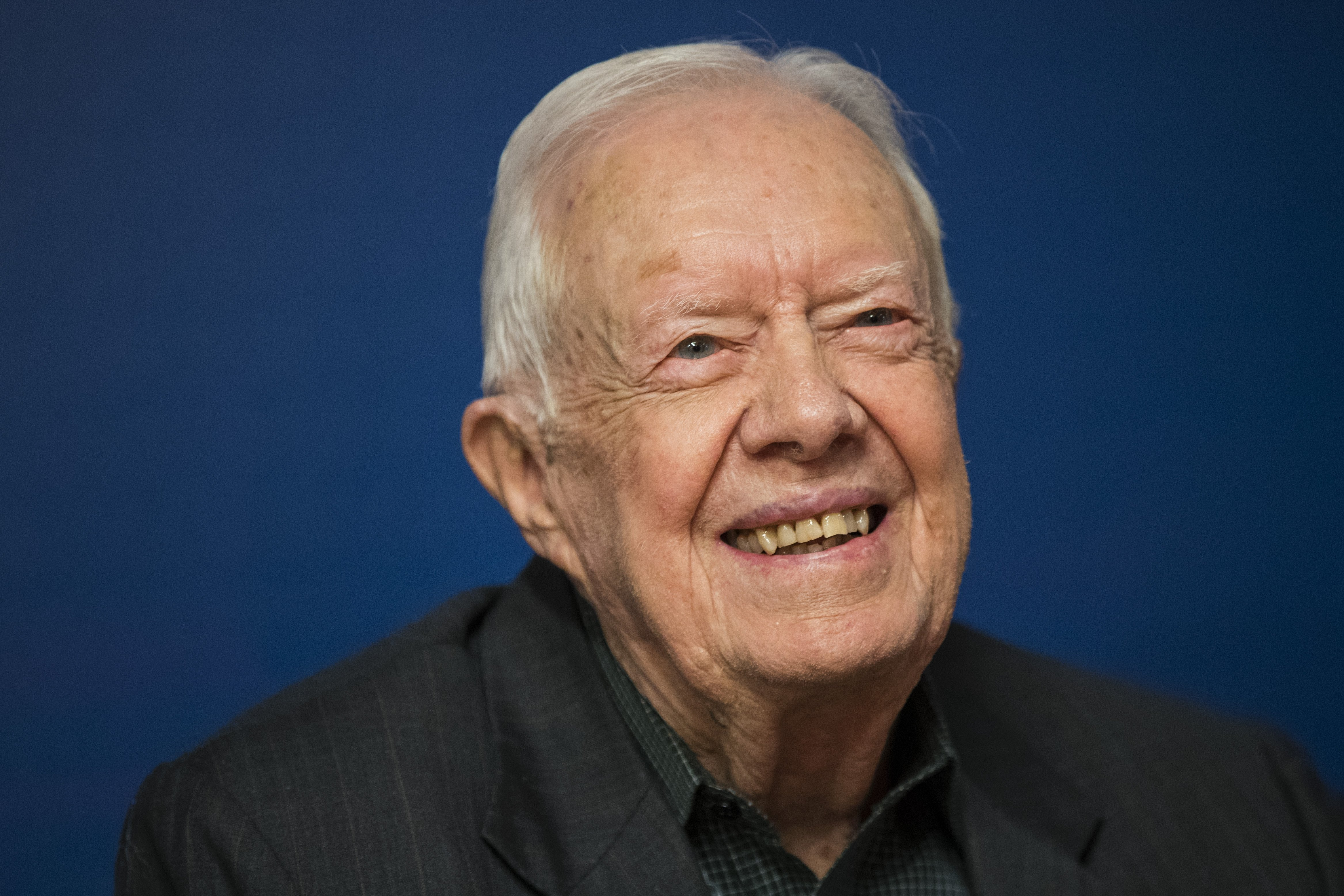 Jimmy Carter back in the hospital but already feeling better