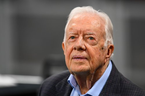 Image for Jimmy Carter admitted to hospital for procedure to relieve pressure on his brain
