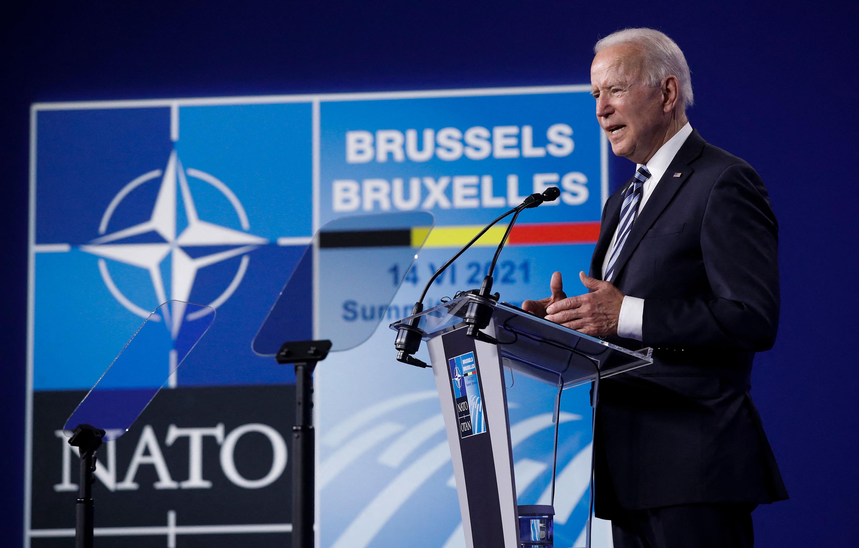 Biden says NATO must protect against 'phony populism'