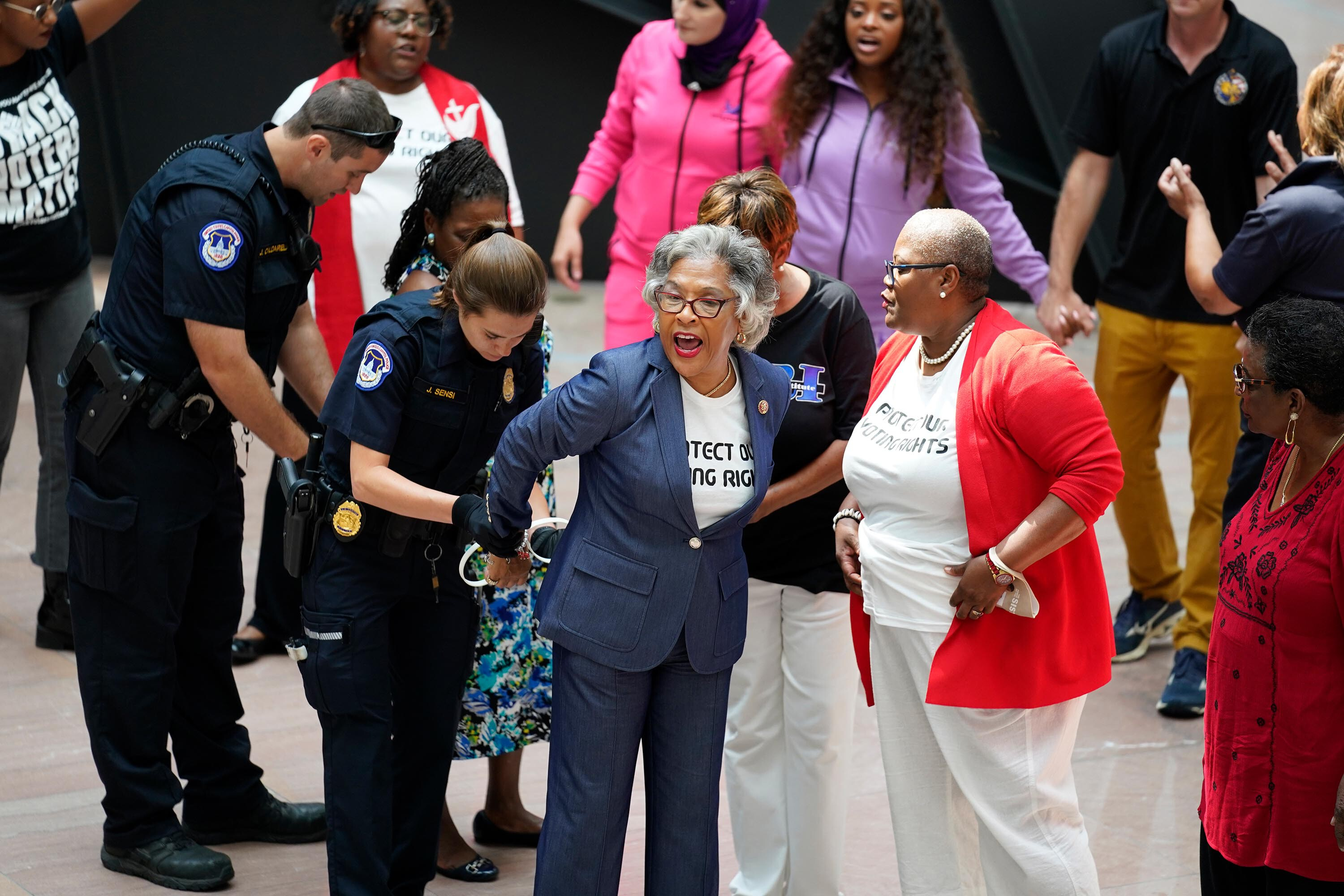 Congressional Black Caucus Chair Joyce Beatty arrested at voting rights protest