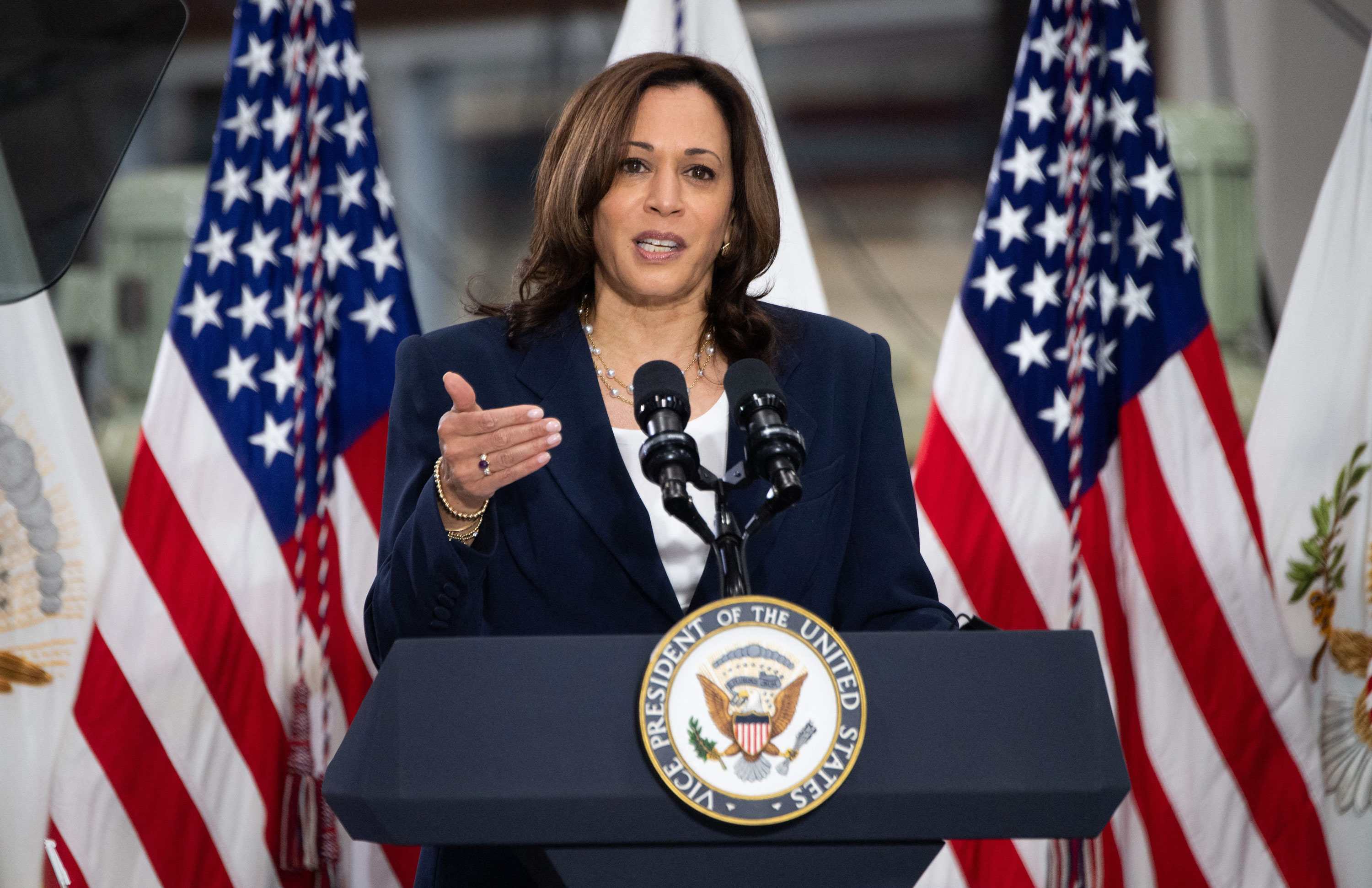 Harris pitches American Jobs Plan during first extended economic speech since becoming VP