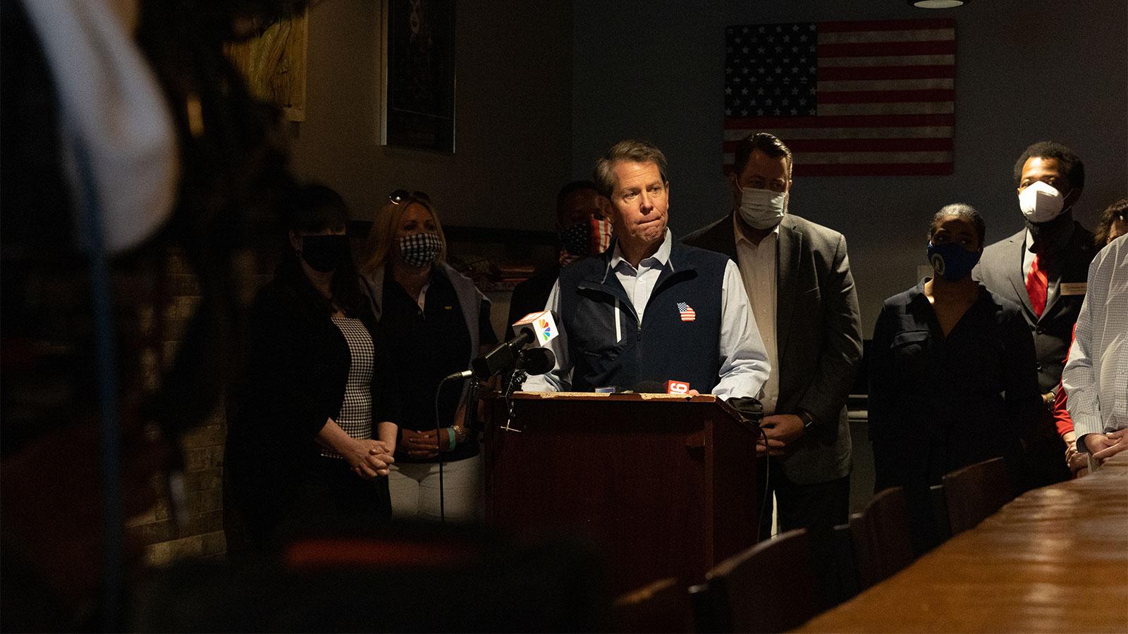 Georgia Republicans say DOJ suit against voting law could give Kemp political boost