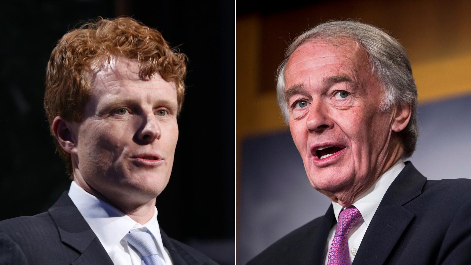 Democrats Joe Kennedy and Ed Markey spar over how to best counter Trump in Massachusetts Senate debate