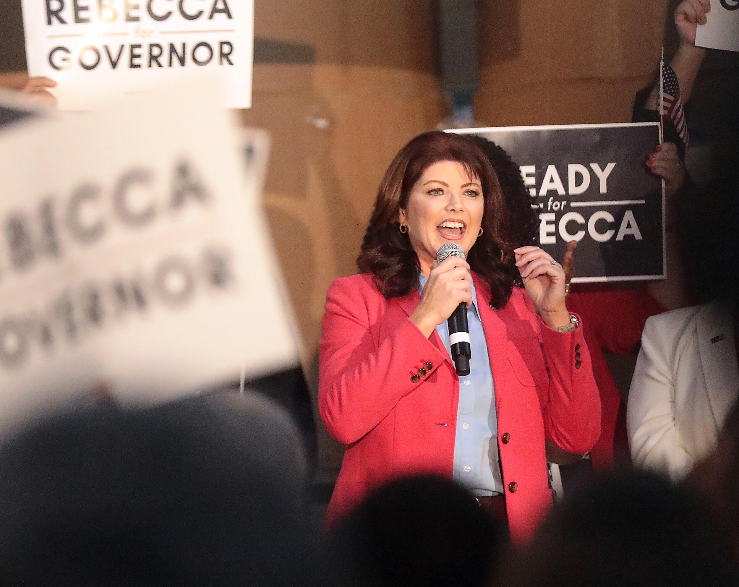Former Wisconsin Lt. Gov. Rebecca Kleefisch announces GOP gubernatorial bid