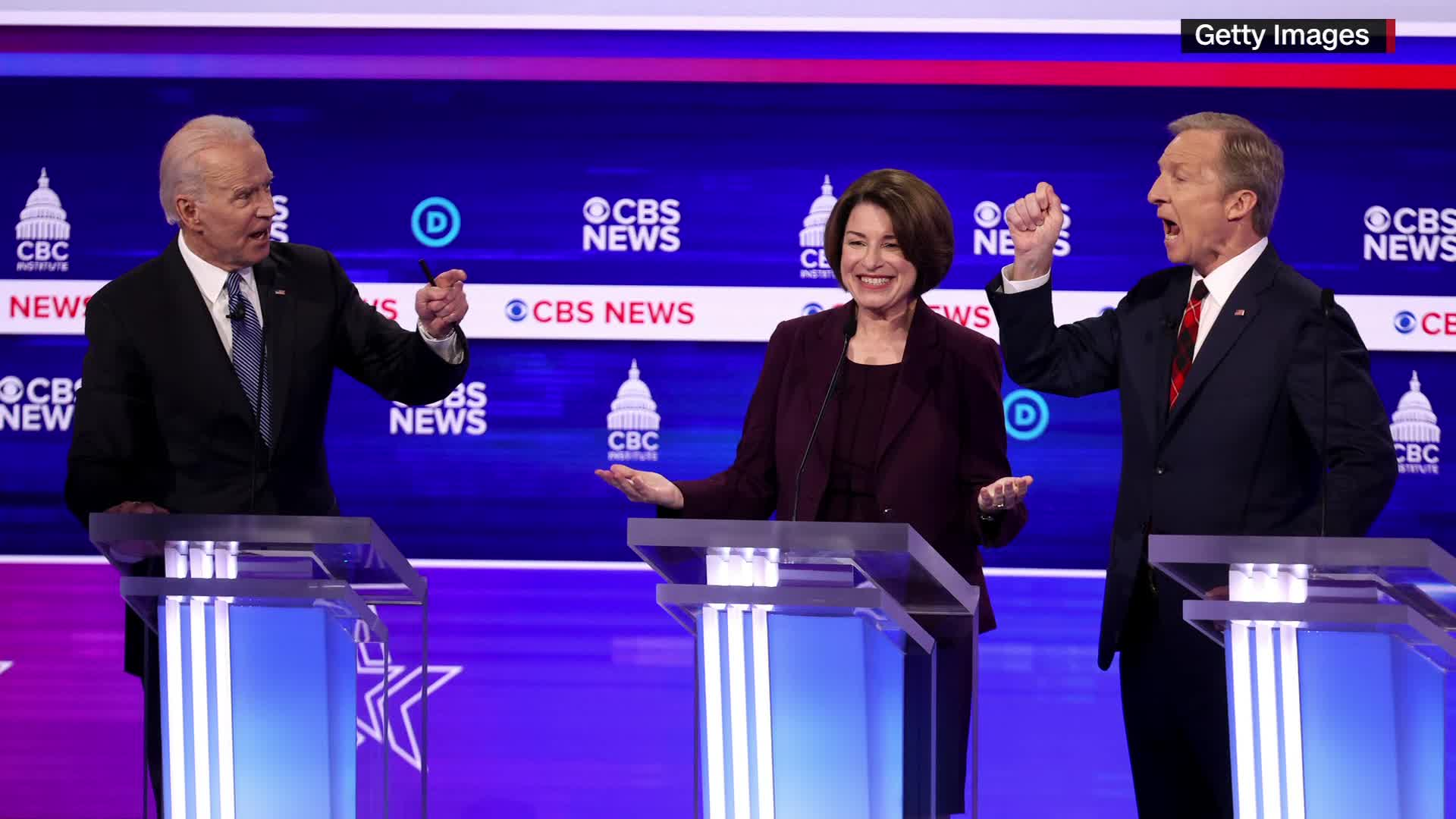 Klobuchar explains what she was thinking in heated debate moment captured in photo