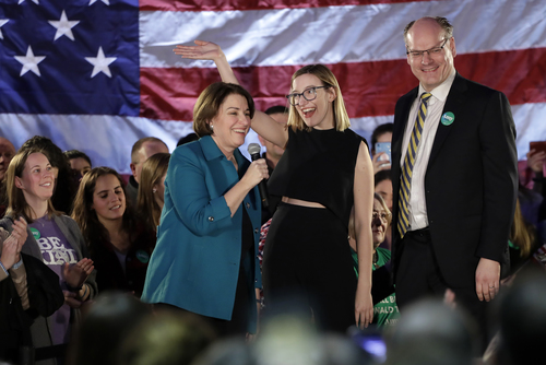 Image for Klobuchar opens up about husband's recovery from coronavirus