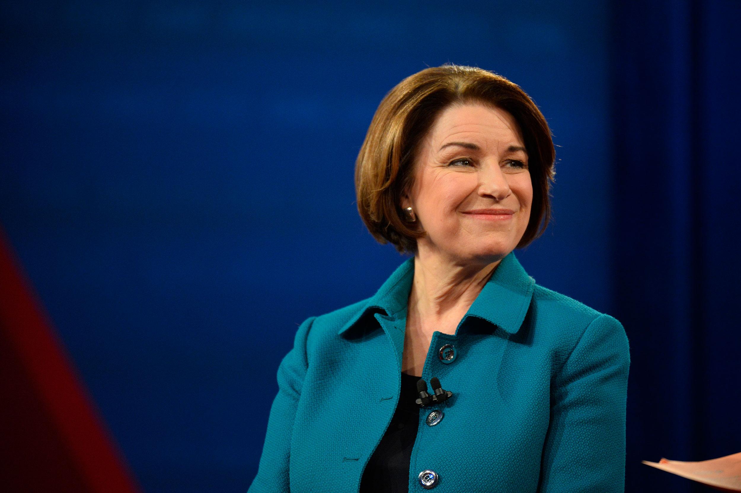 Klobuchar makes her not-so-quiet bid to be Joe Biden's running mate