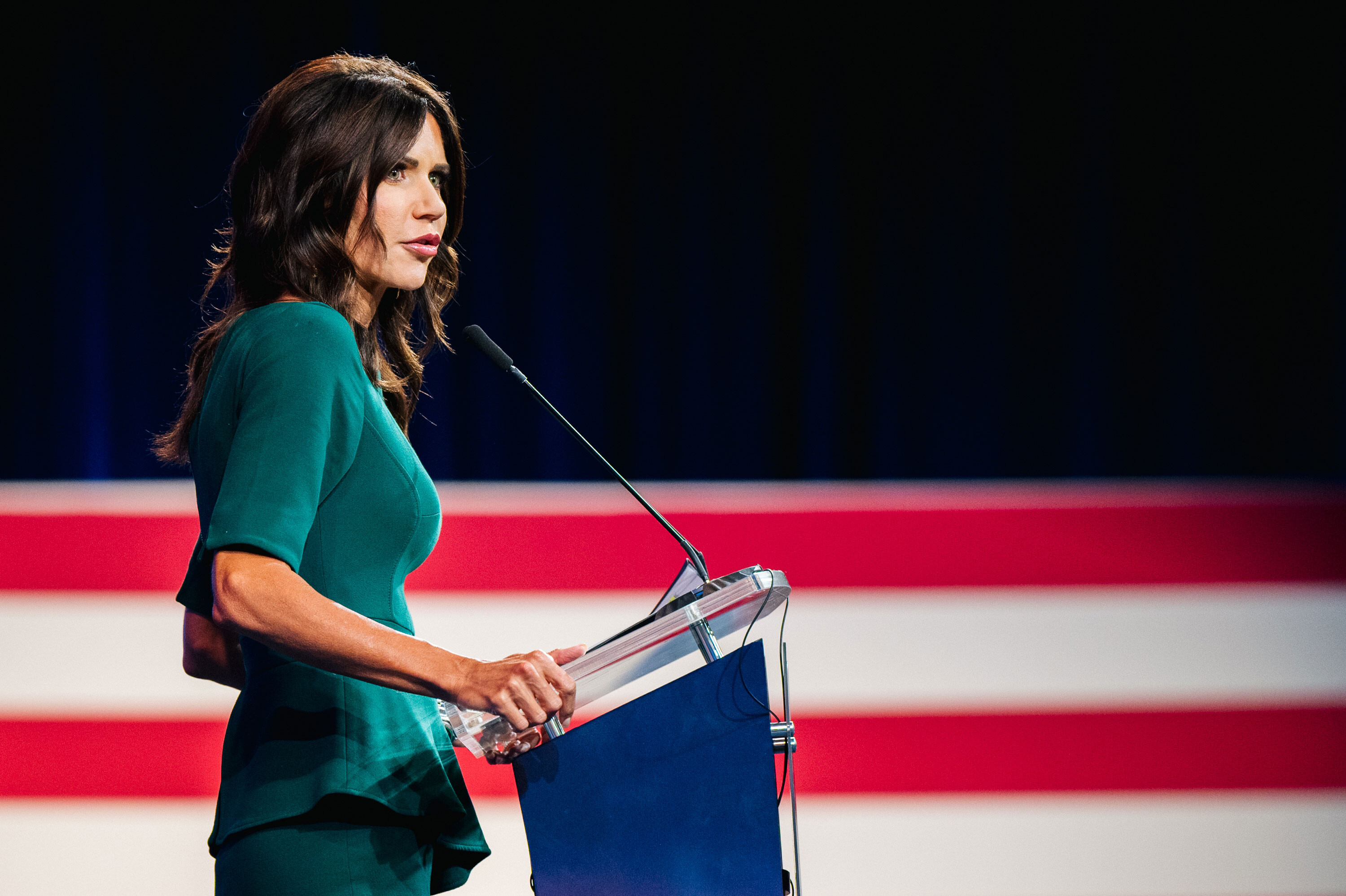 Kristi Noem criticizes GOP governors who enacted Covid-19 mandates while accusing some of rewriting their history