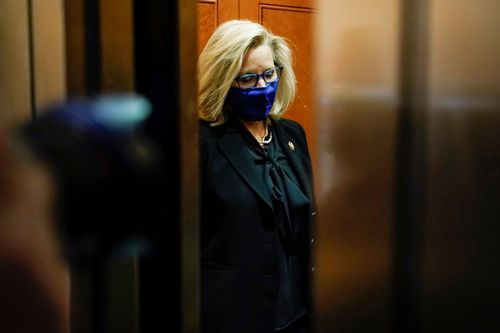 Image for Liz Cheney loses House Republican leadership post over feud with Trump