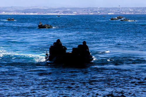 Image for 1 Marine dead and 8 others missing after amphibious vehicle accident off California coast