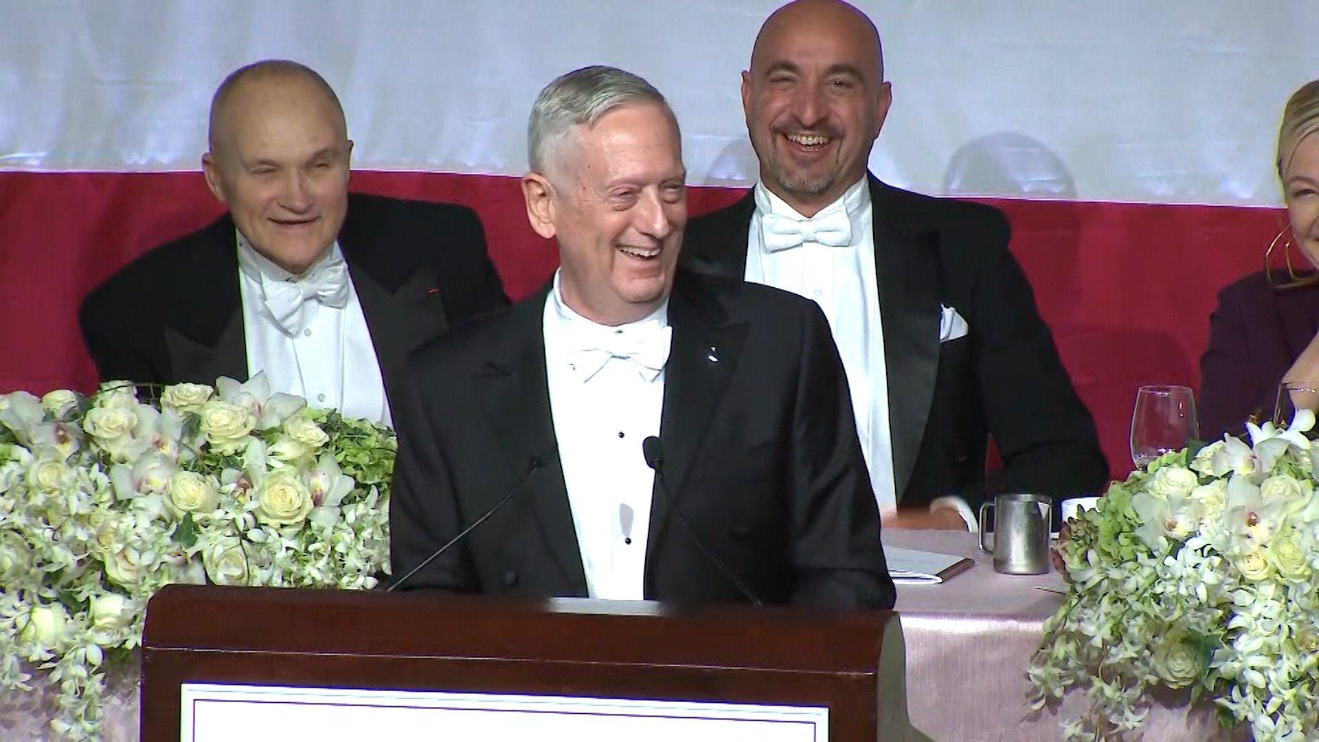 Mattis laughs off Trump criticism: 'I guess I'm the Meryl Streep of generals'