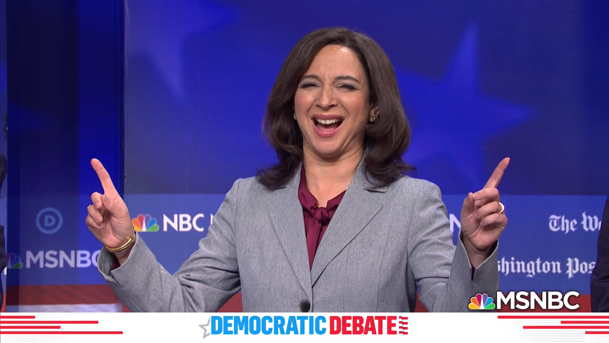 Maya Rudolph, whose portrayal of Kamala Harris on 'SNL' got her an Emmy nod, calls VP pick news 'spicy'