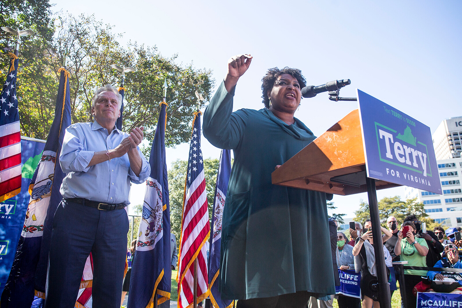 McAuliffe, Abrams warn Virginians that commonwealth could look like Texas, Georgia with Youngkin win