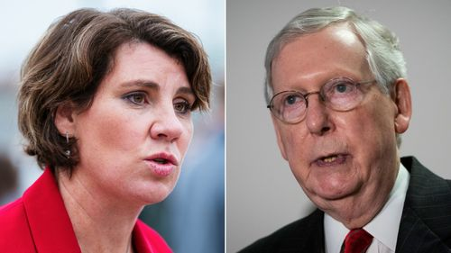 Image for Mitch McConnell wins reelection in Kentucky, defeating Democrat Amy McGrath