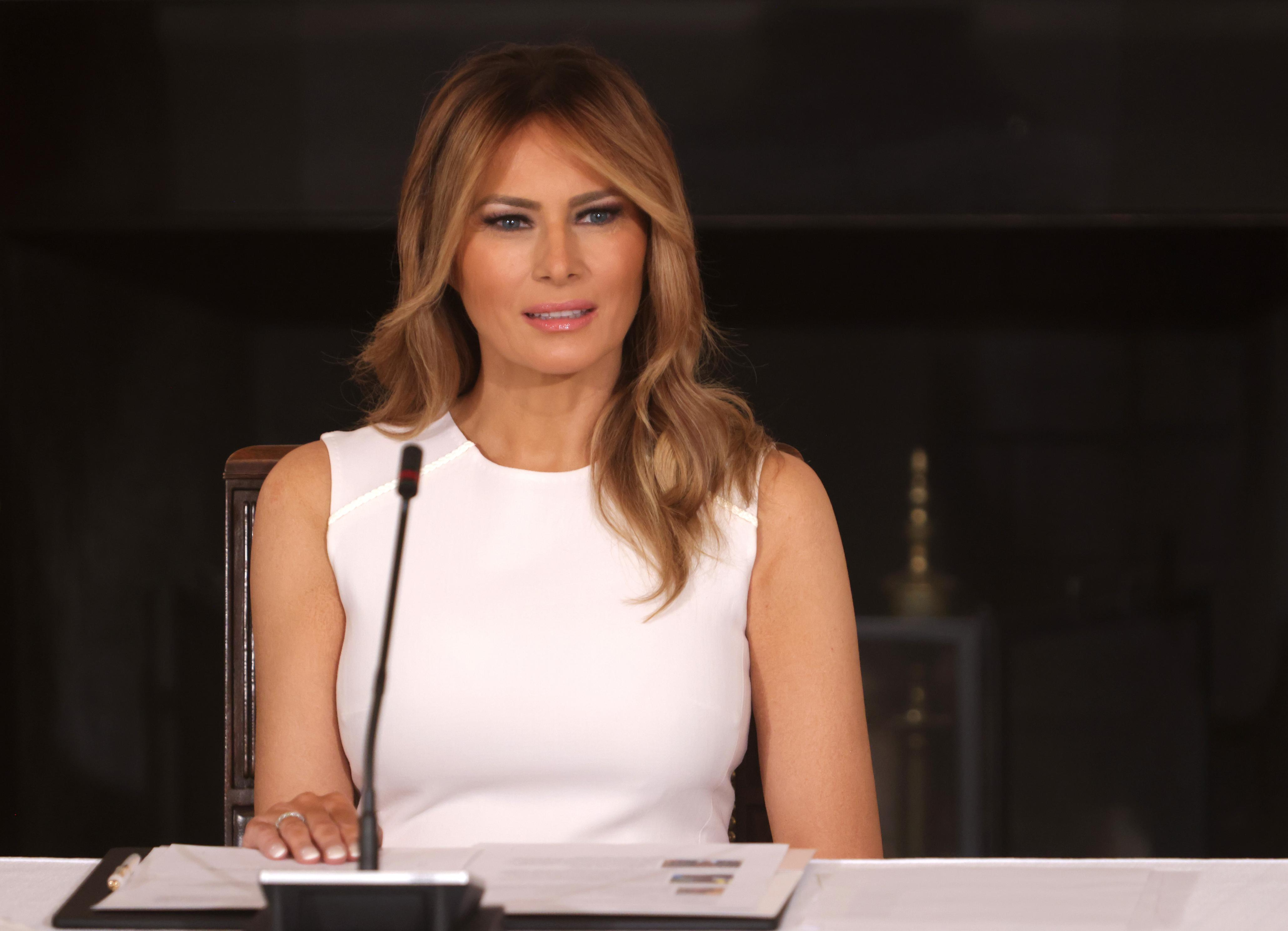 Melania Trump focuses on Covid and slams Democrats for politicizing pandemic in campaign speech