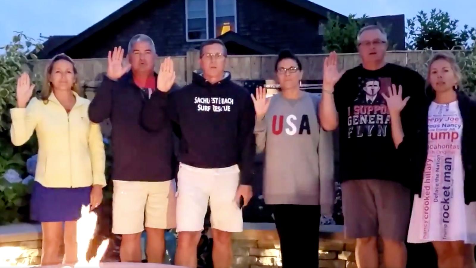 Michael Flynn posts video featuring QAnon slogans