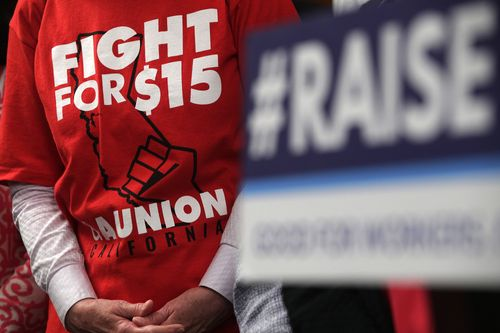 Image for These two charts show how much minimum wage workers have fallen behind